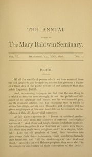 Page 9, 1896 Edition, Mary Baldwin College - Bluestocking Yearbook (Staunton, VA) online yearbook collection