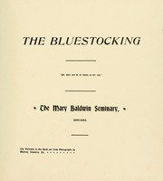 Page 11, 1900 Edition, Mary Baldwin College - Bluestocking Yearbook (Staunton, VA) online yearbook collection