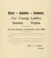 Page 6, 1900 Edition, Mary Baldwin College - Bluestocking Yearbook (Staunton, VA) online yearbook collection