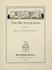 Page 7, 1921 Edition, Mary Baldwin College - Bluestocking Yearbook (Staunton, VA) online yearbook collection
