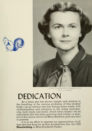Page 9, 1950 Edition, Mary Baldwin College - Bluestocking Yearbook (Staunton, VA) online yearbook collection
