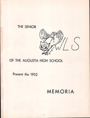 Page 5, 1952 Edition, Augusta High School - Memoria Yearbook (Augusta, MO) online yearbook collection