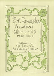 Page 7, 1926 Edition, St Josephs Academy - Academy Yearbook (St Louis, MO) online yearbook collection