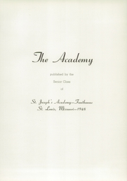 Page 5, 1948 Edition, St Josephs Academy - Academy Yearbook (St Louis, MO) online yearbook collection