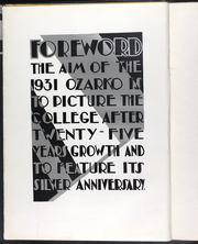 Page 12, 1931 Edition, Missouri State University - Ozarko Yearbook (Springfield, MO) online yearbook collection