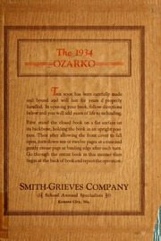 1934 Edition, Missouri State University - Ozarko Yearbook (Springfield, MO)