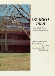 Page 5, 1968 Edition, Missouri State University - Ozarko Yearbook (Springfield, MO) online yearbook collection