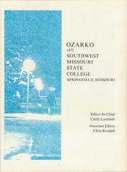 Page 7, 1972 Edition, Missouri State University - Ozarko Yearbook (Springfield, MO) online yearbook collection