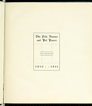 Page 7, 1911 Edition, Yale University - Banner and Pot Pourri Yearbook (New Haven, CT) online yearbook collection