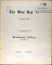 Page 7, 1911 Edition, Westminster College - Blue Jay Yearbook (Fulton, MO) online yearbook collection