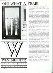Page 12, 1984 Edition, Westminster College - Blue Jay Yearbook (Fulton, MO) online yearbook collection