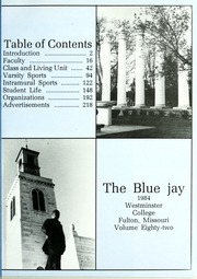 Page 5, 1984 Edition, Westminster College - Blue Jay Yearbook (Fulton, MO) online yearbook collection