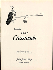 Page 7, 1947 Edition, Missouri Southern State University - Crossroads Yearbook (Joplin, MO) online yearbook collection