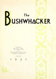 Page 5, 1931 Edition, University of Missouri at Kansas City School of Dentistry - Bushwacker Yearbook (Kansas City, MO) online yearbook collection