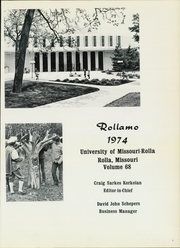 Page 5, 1974 Edition, Missouri University of Science and Technology - Rollamo Yearbook (Rolla, MO) online yearbook collection