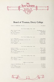 Page 12, 1916 Edition, Drury University - Souwester Yearbook (Springfield, MO) online yearbook collection