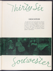 Page 9, 1936 Edition, Drury University - Souwester Yearbook (Springfield, MO) online yearbook collection