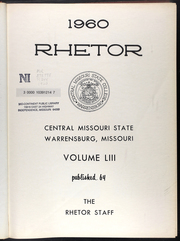Page 5, 1960 Edition, University of Central Missouri - Rhetor Yearbook (Warrensburg, MO) online yearbook collection
