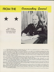 Page 13, 1956 Edition, US Army Training Center - Yearbook (Fort Leonard Wood, MO) online yearbook collection