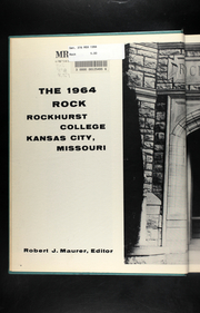 Page 6, 1964 Edition, Rockhurst University - Rock Yearbook (Kansas City, MO) online yearbook collection
