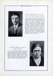Page 17, 1929 Edition, Culver Stockton College - Milestones Yearbook (Canton, MO) online yearbook collection