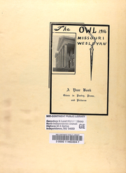 Page 7, 1916 Edition, Missouri Wesleyan College - Owl Yearbook (Cameron, MO) online yearbook collection