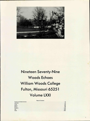Page 7, 1979 Edition, William Woods University - Echoes Yearbook (Fulton, MO) online yearbook collection