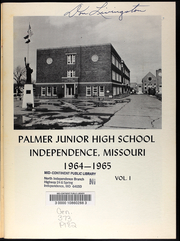 Page 3, 1965 Edition, Palmer Junior High School - Patriot Yearbook (Independence, MO) online yearbook collection