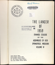 Page 5, 1959 Edition, Evangel University - Lancer Yearbook (Springfield, MO) online yearbook collection