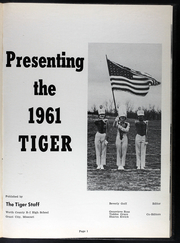 Page 5, 1961 Edition, Worth County R I High School - Tiger Yearbook (Grant City, MO) online yearbook collection