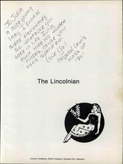 Page 7, 1979 Edition, Lincoln Academy - Lincolnian Yearbook (Kansas City, MO) online yearbook collection