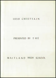 Page 5, 1959 Edition, Maitland High School - Chieftain Yearbook (Maitland, MO) online yearbook collection