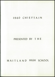 Page 5, 1960 Edition, Maitland High School - Chieftain Yearbook (Maitland, MO) online yearbook collection