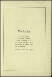 Page 3, 1921 Edition, Academy of the Visitation - Crescent Yearbook (St Louis, MO) online yearbook collection