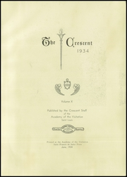 Page 7, 1934 Edition, Academy of the Visitation - Crescent Yearbook (St Louis, MO) online yearbook collection