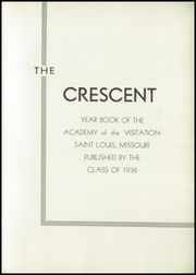Page 7, 1936 Edition, Academy of the Visitation - Crescent Yearbook (St Louis, MO) online yearbook collection