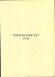 Page 9, 1932 Edition, St Louis College of Pharmacy - Prescripto Yearbook (St Louis, MO) online yearbook collection