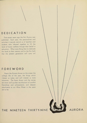 Page 7, 1939 Edition, Eastern Michigan University - Aurora Yearbook (Ypsilanti, MI) online yearbook collection