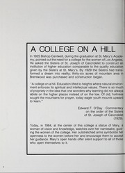 Page 4, 1984 Edition, Mount St Marys College - Yearbook (Los Angeles, CA) online yearbook collection