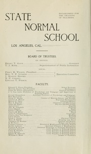 Page 8, 1899 Edition, University of California Los Angeles - Bruin Life / Southern Campus Yearbook (Los Angeles, CA) online yearbook collection