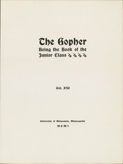Page 15, 1901 Edition, University of Minnesota - Gopher Yearbook (Minneapolis, MN) online yearbook collection