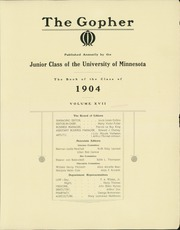 Page 9, 1904 Edition, University of Minnesota - Gopher Yearbook (Minneapolis, MN) online yearbook collection