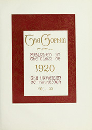 Page 9, 1920 Edition, University of Minnesota - Gopher Yearbook (Minneapolis, MN) online yearbook collection