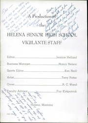 Page 6, 1957 Edition, Helena High School - Vigilante Yearbook (Helena, MT) online yearbook collection