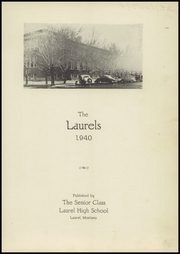 Page 5, 1940 Edition, Laurel High School - Laurels Yearbook (Laurel, MT) online yearbook collection