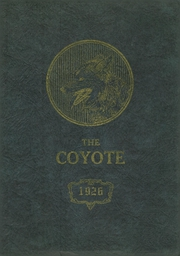 1926 Edition, Shelby High School - Coyote Yearbook (Shelby, MT)