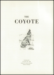 Page 5, 1946 Edition, Shelby High School - Coyote Yearbook (Shelby, MT) online yearbook collection