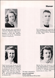 Page 10, 1951 Edition, Manhattan High School - Tiger Yearbook (Manhattan, MT) online yearbook collection