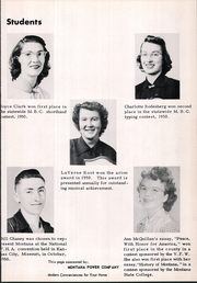 Page 11, 1951 Edition, Manhattan High School - Tiger Yearbook (Manhattan, MT) online yearbook collection