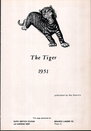 Page 5, 1951 Edition, Manhattan High School - Tiger Yearbook (Manhattan, MT) online yearbook collection